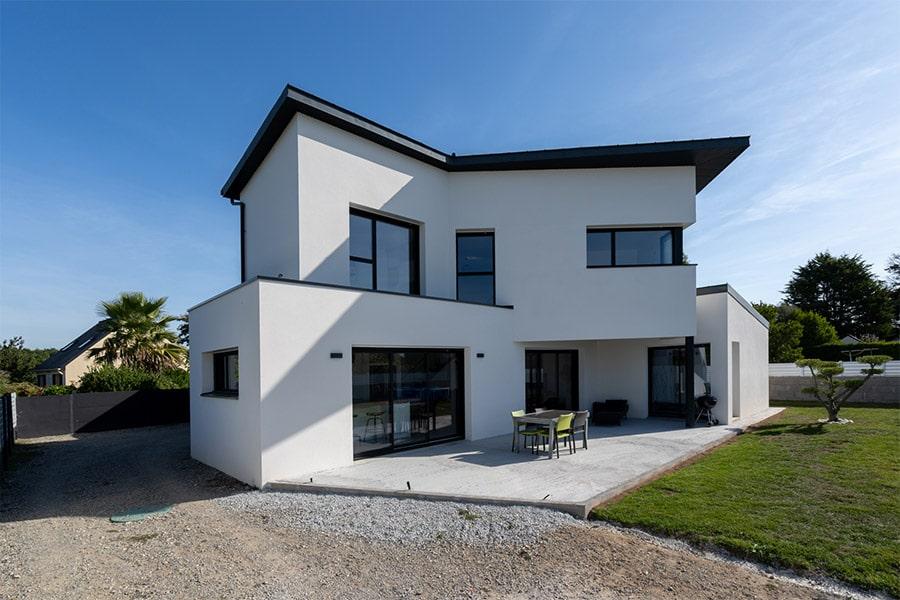 Maison contemporaine monopente