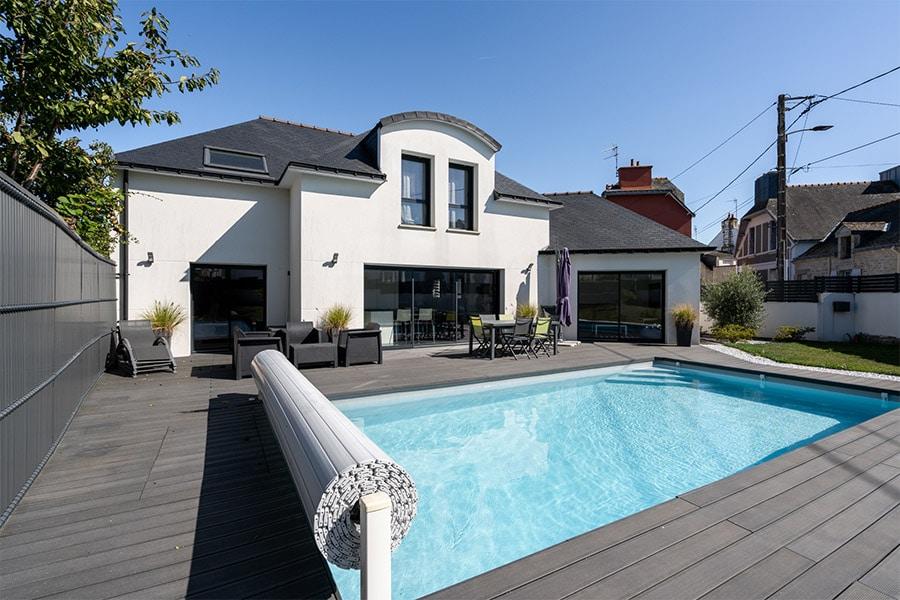 Maison terrasse piscine