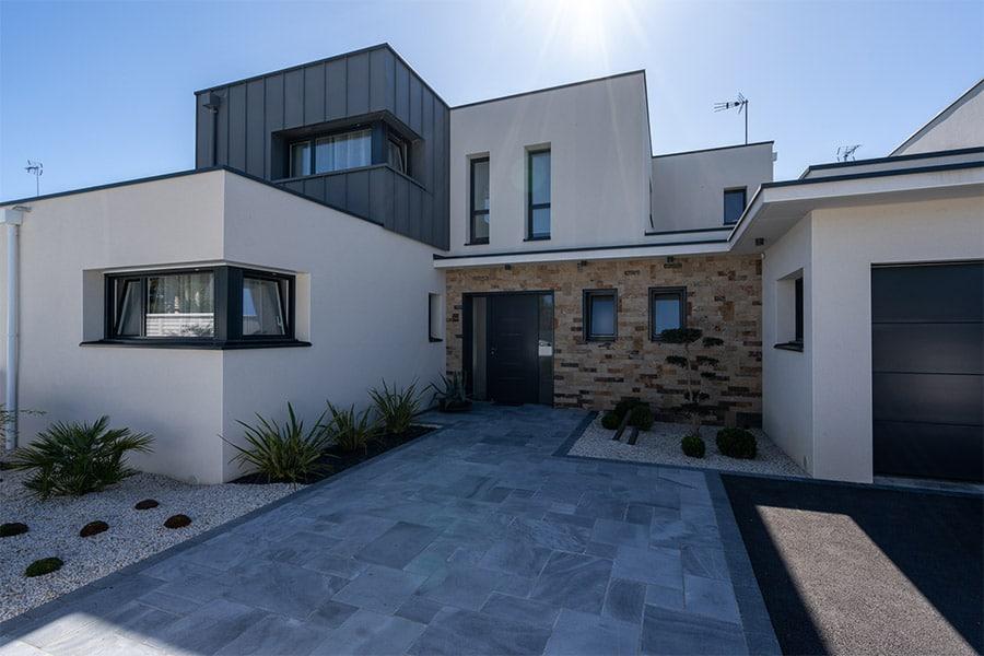 Maison Cubique bardage zinc
