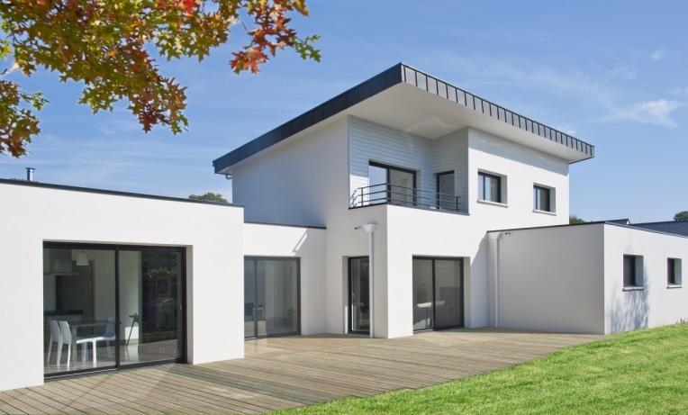 Maison Toiture terrasse et Monopente Zinc