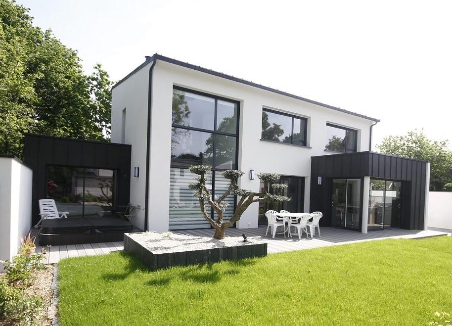 Maison avec verrière