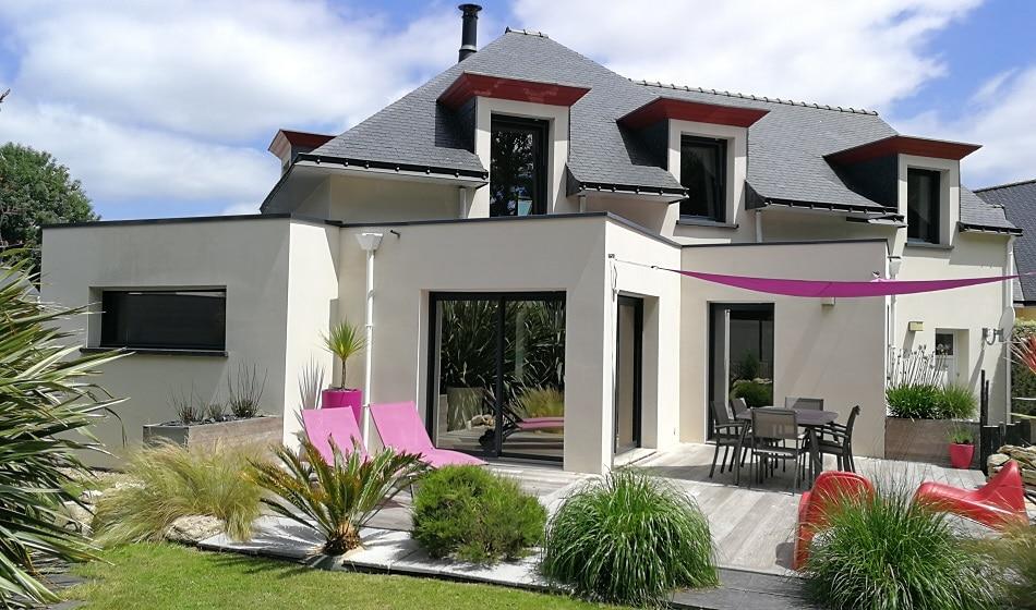 vue exterieur maison contemporaine